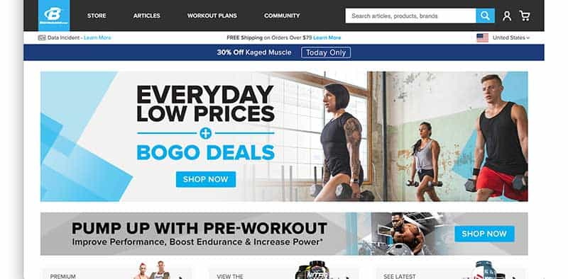 bodybuilding dot com homepage