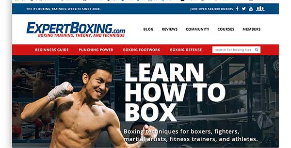 expert boxing homepage