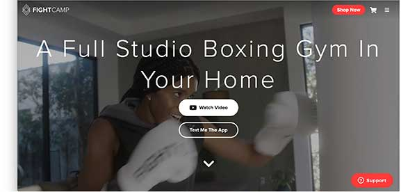 fight camp homepage