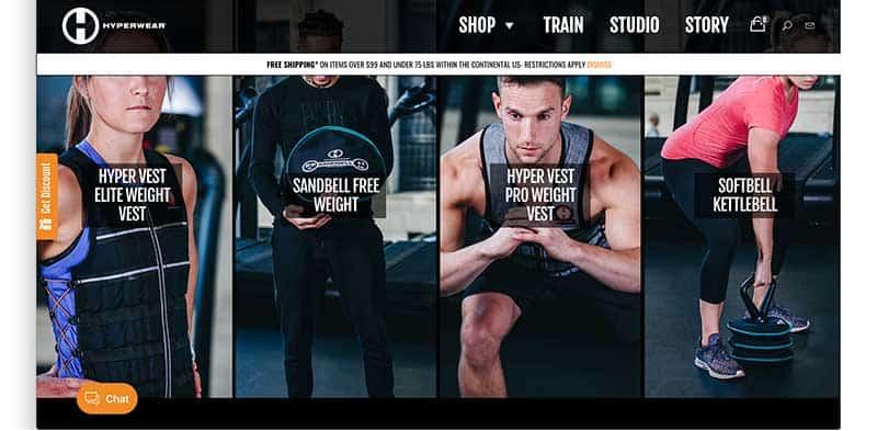 hyperwear homepage