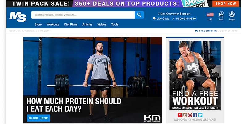 muscle and strength homepage