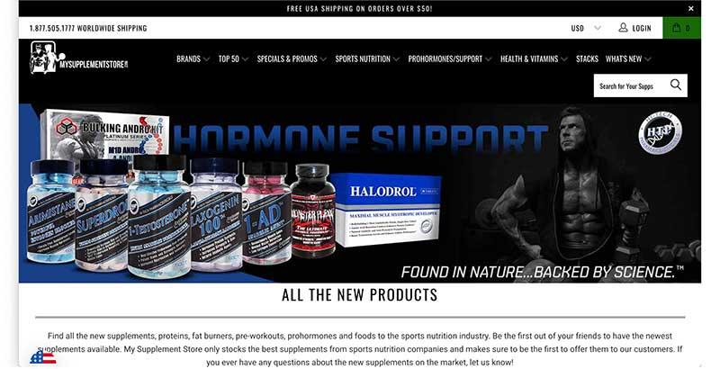 my supplement store website