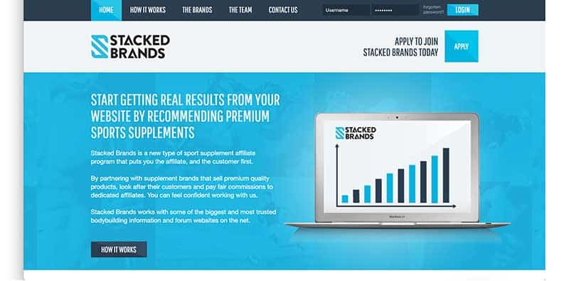 stacked brands homepage