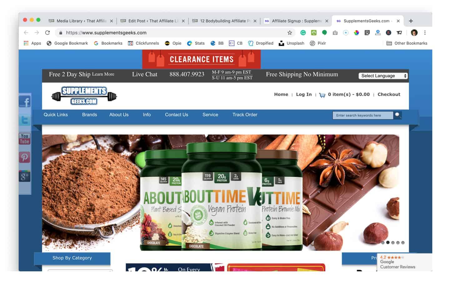 supplements geeks homepage