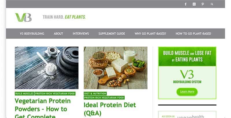 vegetarian bodybuilder website