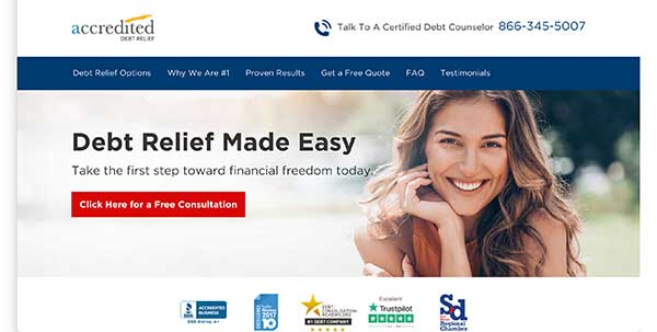 accredited debt relief home page
