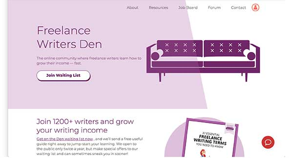 freelance writers den home page