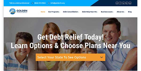 golden financial services home page