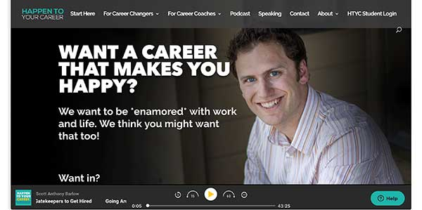 happen to your career home page
