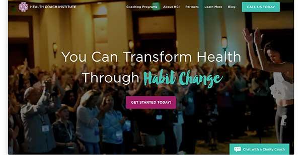 health coach institute homepage