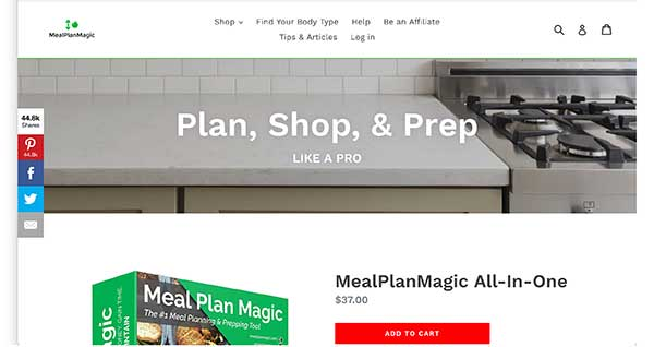meal plan magic  homepage