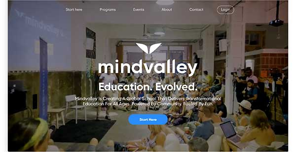 mindvalley homepage