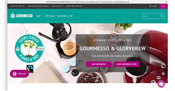 gourmesso home page