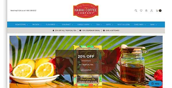 hawaii coffee company home page