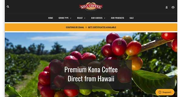 koa coffee home page