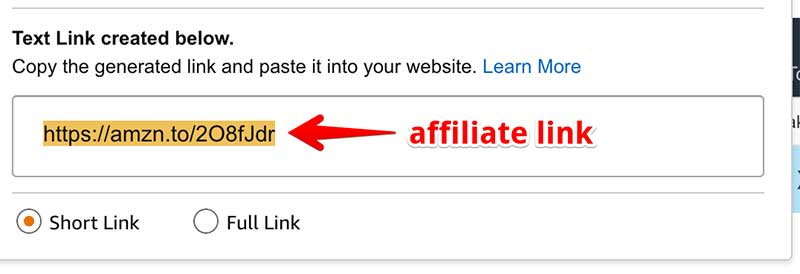 affiliate link example