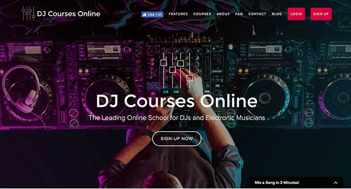 dj courses online home page