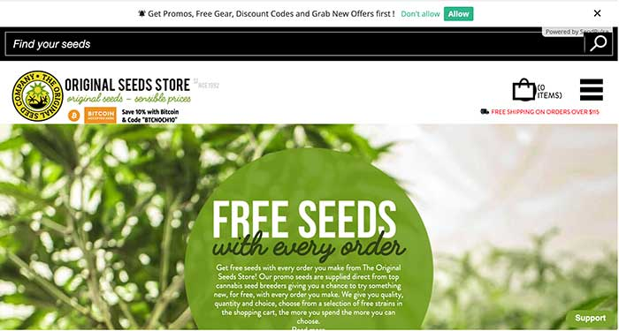 original seed store home page