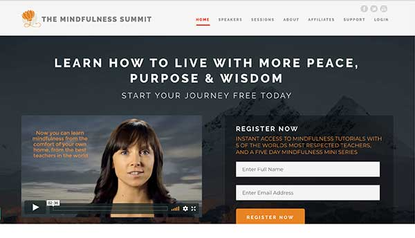 the mindfulness summit home page