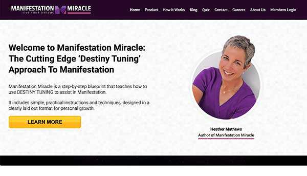 manifestation miracle home page
