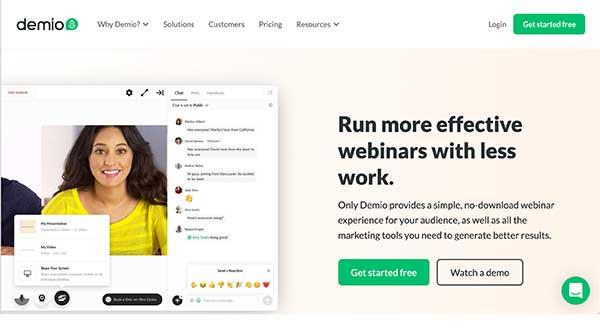 demio home page