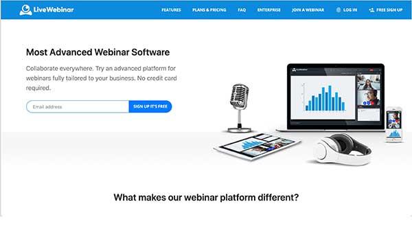 live webinar home page