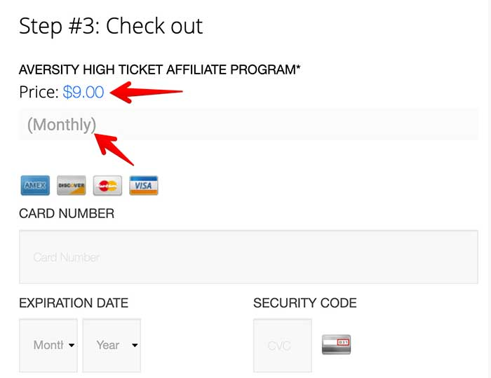 aversity affiliate program checkout