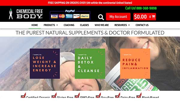 chemical free body home page