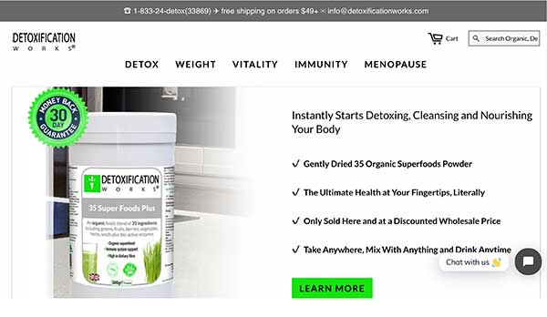 detoxification works home page