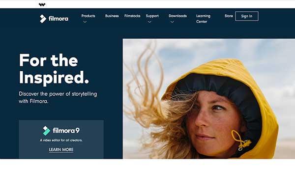 filmora home page
