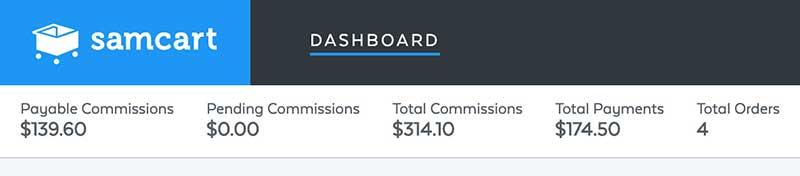 samcart affiliate commissions
