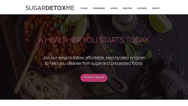 sugardetoxme home page