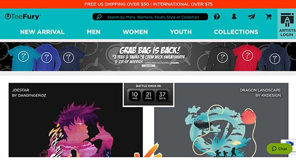teefury home page