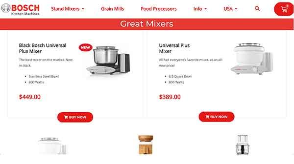 bosch mixers affiliate program