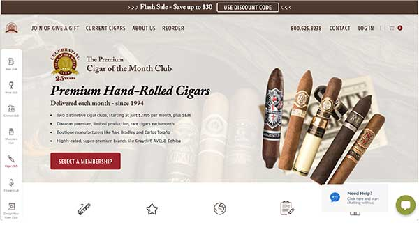 cigar of the month club home page