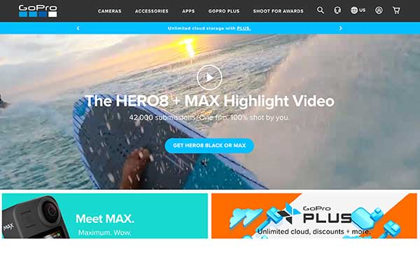gopro home page