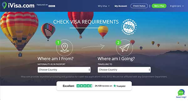 iVisa home page