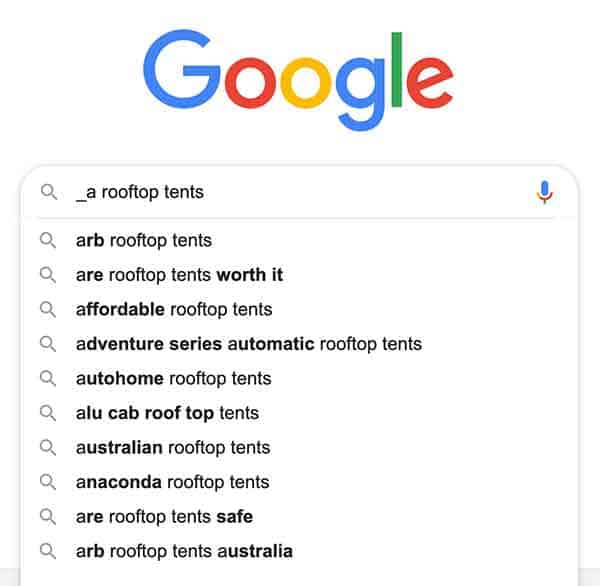search engine search results