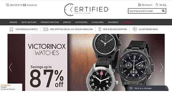 certified watch store affiliate program