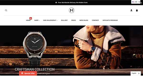 nove watches affiliate program