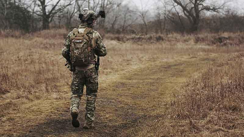 man in wearing tactical gear