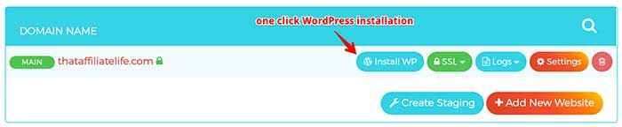 wpx hosting wordpress install