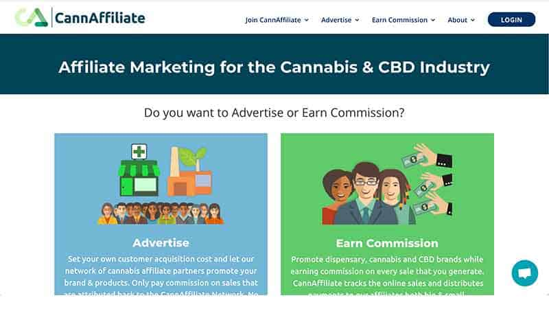 cannaffiliate homepage