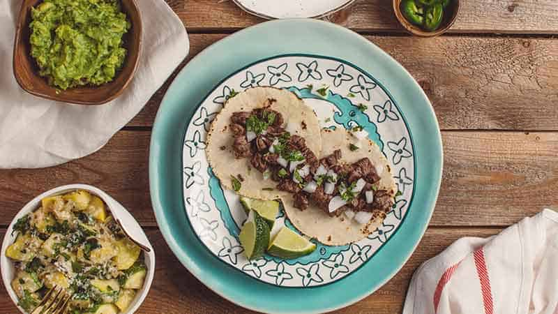 meal kit affiliate programs - two taco plate