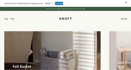 kroft furniture store