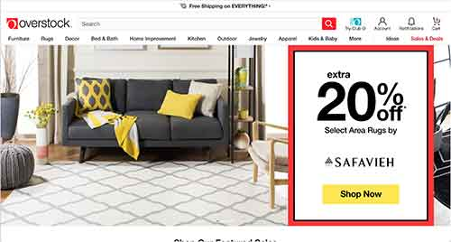 overstock home page