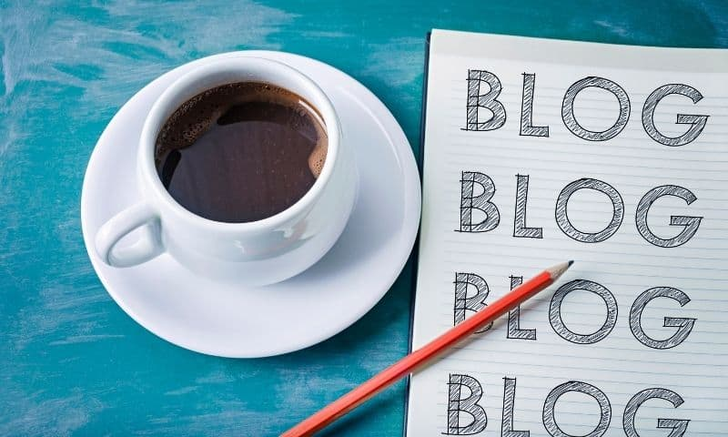 coffee and blog